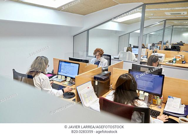 ICC, Integrated Call Center, CIAT, Centro Integrado de Atención Telefónica, Hospital Donostia, San Sebastian, Gipuzkoa, Basque Country, Spain