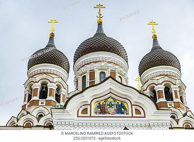 The Alexander Nevsky Cathedral is an orthodox cathedral in the Tallinn Old Town. Tallinn, Harju County, Estonia, Baltic states, Europe