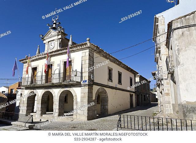 Town Hall in San Juan de la Nava. Avila. Spain