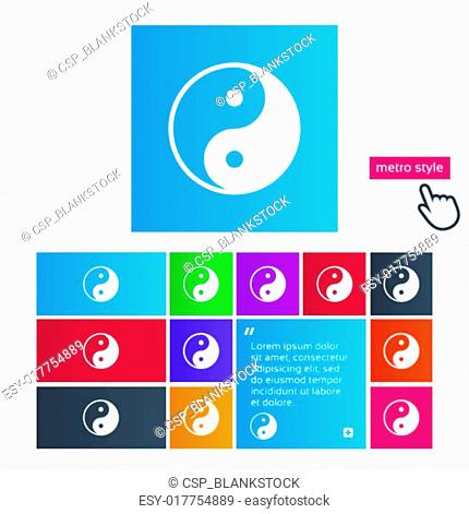 Ying yang sign icon. Harmony and balance symbol