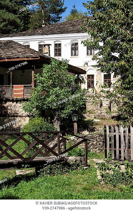 Wooden bridge, Bozhentsi, Gabrovo, Bulgaria