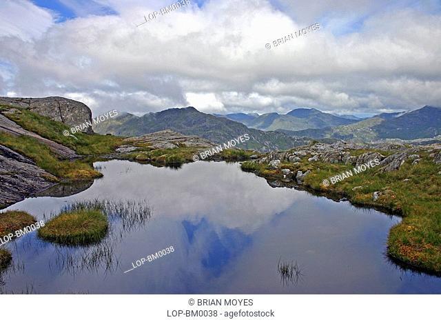 Scotland, Highland, Glen Dessary, A view toward Glen Dessary
