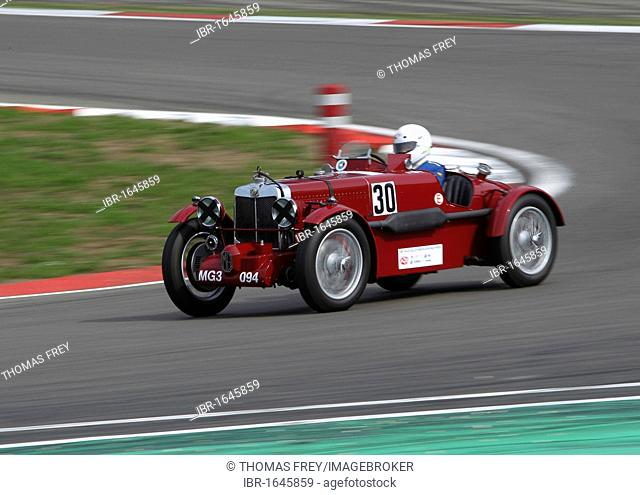 Race of the pre-war cars, Guenter Krenn in the MG Magnette from 1934, Oldtimer-Grand-Prix 2010 for vintage cars at the Nurburgring race track