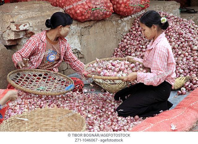 Myanmar, Burma, Mandalay, market, people