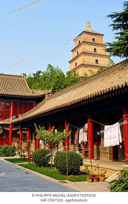 China, Shaanxi province, Xian, Wild Goose Pagoda (Giant Wild Goose Pagoda)