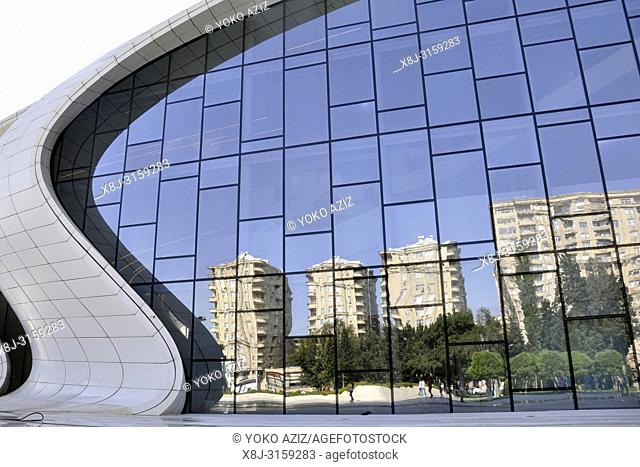 Azerbaijan, Baku, The Heydar Aliyev Cultural Center
