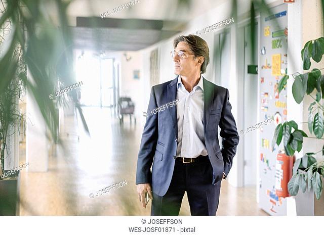 Businessman standing on office floor