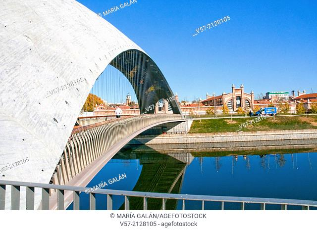 Puente del Matadero. Madrid Rio, Madrid, Spain