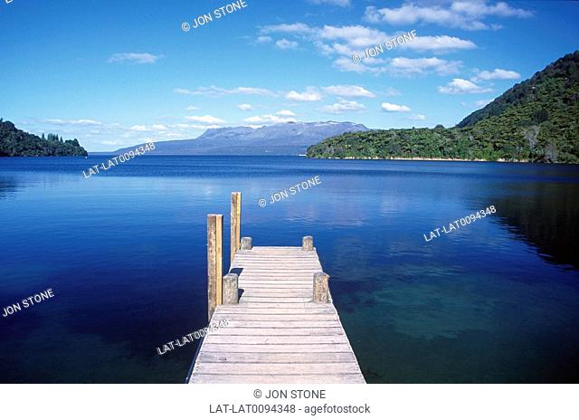 Lake Tarawera is the largest of the lakes which surround the volcano Mount Tarawera. It is located within the Okataina caldera