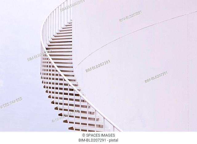 Winding silo stairs
