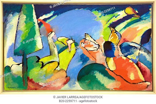 Improvisation XIV, 1910. Vassily Kandinsky. Centre George Pompidou. Musee National d'Art Moderne. Paris. France