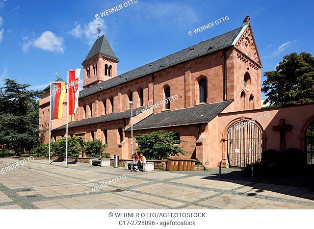 D-Worms, Rhine, Upper Rhine, Rhenish Hesse, Rhine-Neckar area, Rhine-Main district, Rhineland-Palatinate, Martin Church, catholic church, parish church