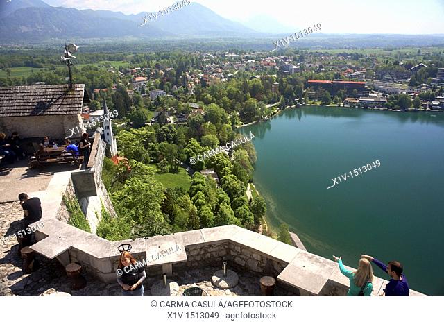 panoramic of Bled's castle