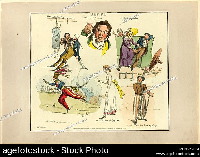 Plate from Illustrations to Popular Songs - 1822 - Henry Alken (English, 1785-1851) published by Thomas McLean (English, active 1790-1860) - Artist: Henry Alken