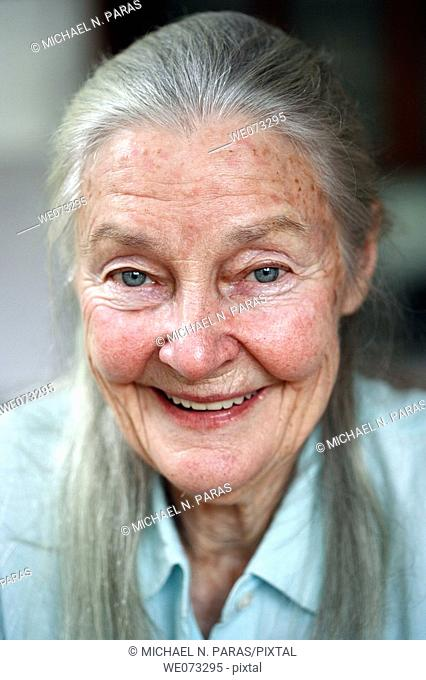 Senior woman looking in the camera
