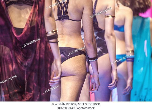 Adult female swimmsuit catwalk during the International Fashion Week held in Santa Cruz de Tenerife 2017