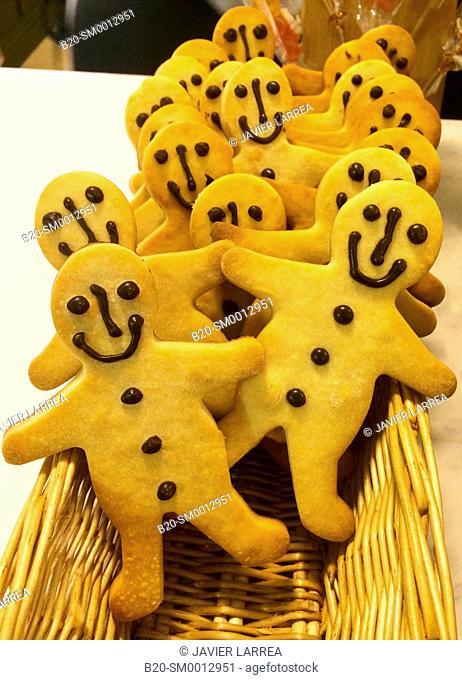 Cookies, Pastry Shop, Donostia San Sebastian, Gipuzkoa, Basque Country, Spain