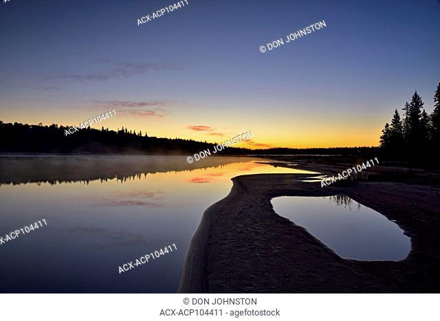 Pine Lake at dawn, Wood Buffalo Ntional Park, Alberta, Canada