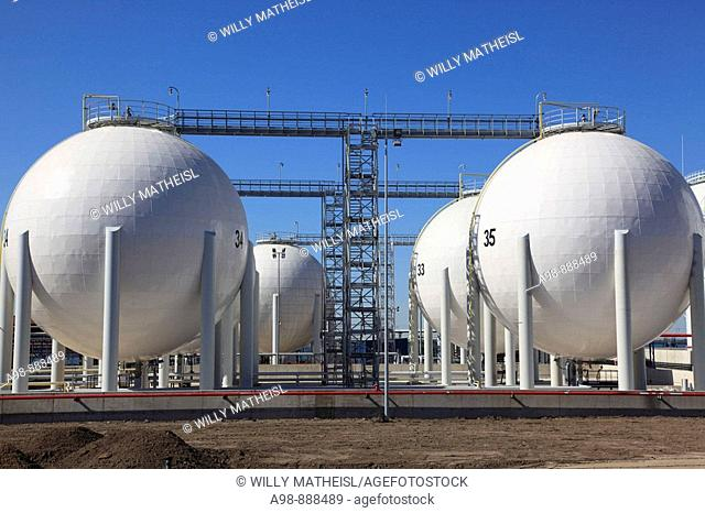gas storage tanks at Estonia, Baltic Nation, Eastern Europe