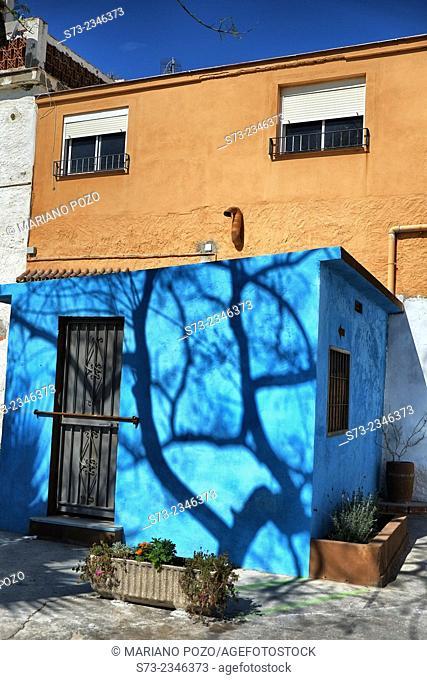 Color house in La Araña, Málaga, Andalusia, Spain