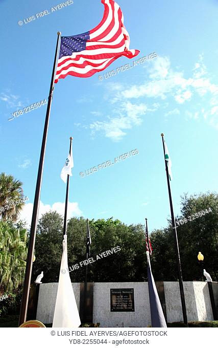 Veterans Memorial in Naples, Florida, USA