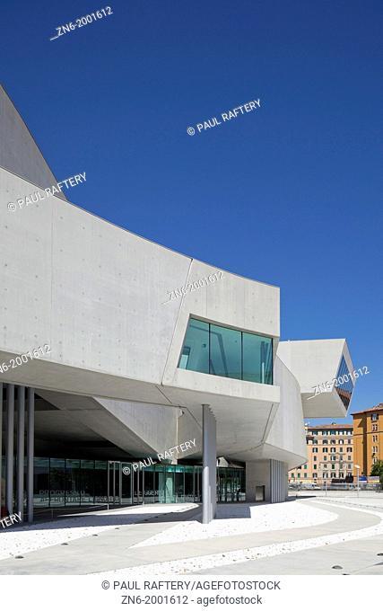 MAXXI National Museum of XXI Century Arts, Zaha Hadid, Rome, 2010, exterior view