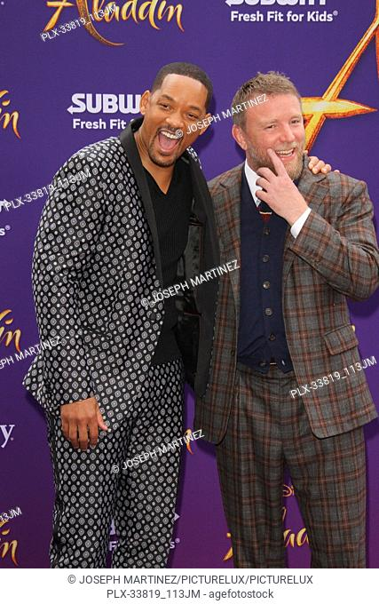 "Will Smith, Guy Ritchie at The World Premiere of Disney's """"Aladdin"""" held at El Capitan Theatre, Hollywood, CA, May 21, 2019"