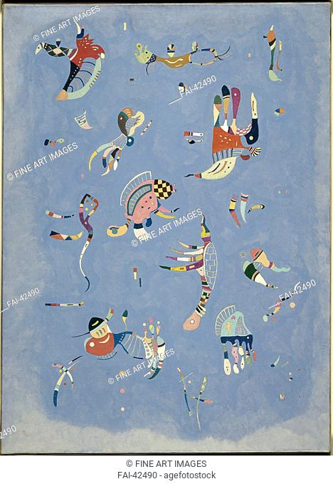 Sky Blue by Kandinsky, Wassily Vasilyevich (1866-1944)/Oil on canvas/Abstract expressionism/1940/Russia/Musée national d'art moderne, Centre Georges Pompidou
