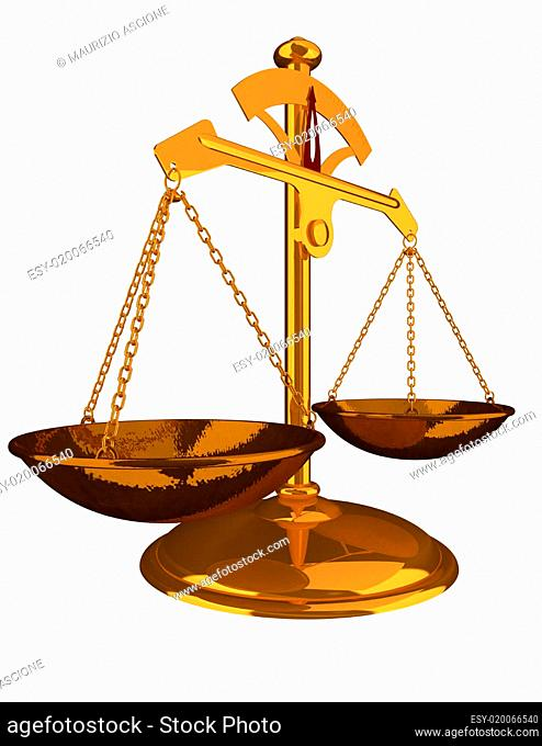 Gold Balance - Justice concept