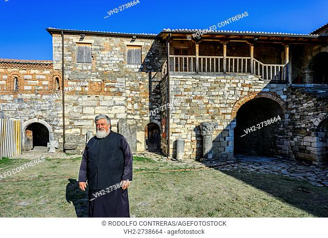 Religious man in Apollonia church