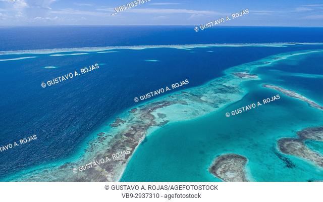 Aerial View Island Landscape Los Roques