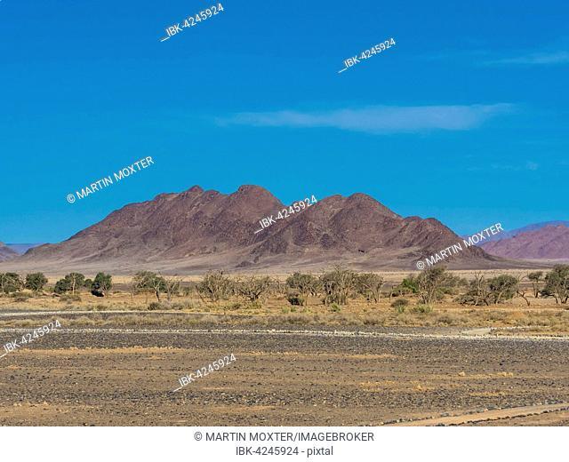 Mountain ridge in Kulala Wilderness Reserve on the edge of the Namib Desert, Hardap Region, Namibia