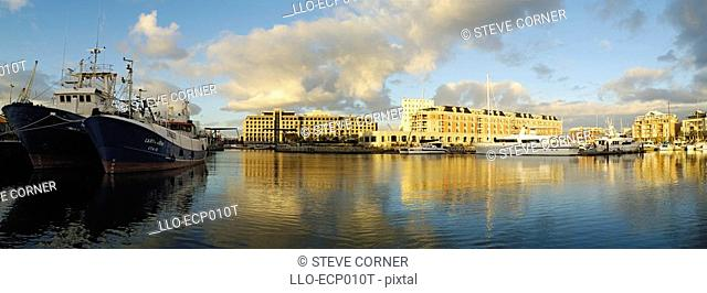 View of The Victoria & Alfred Marina from the Robinson Dry Dock  Cape Town, Western Cape Province, South Africa