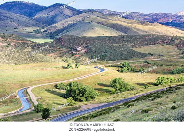 Charles Hansen canal below Horsetooth Reservoir, part of Big Thompson Project, Fort Collins, Colorado