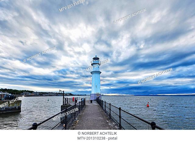 Lighthouse at the Newhaven Harbor, Edinburgh, Scotland