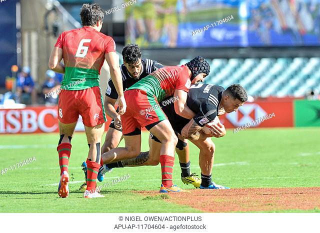 2016 HSBC World Rugby Sevens Sydney Feb 6th. 06.02.2016. Sydney, Australia. HSBC New Zealand v Portugal. Kiwi Sonny Bill Williams in action