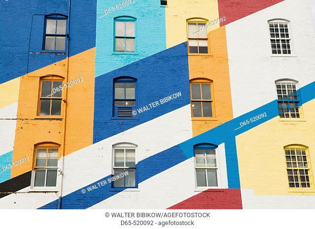 Colorful Exteror of the Valspar Paint Factory. Minneapolis. Minnesota. USA