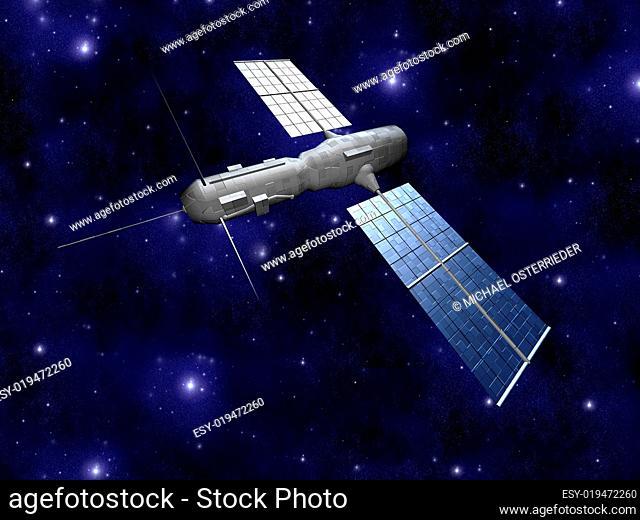 Satellite - Starfield Background
