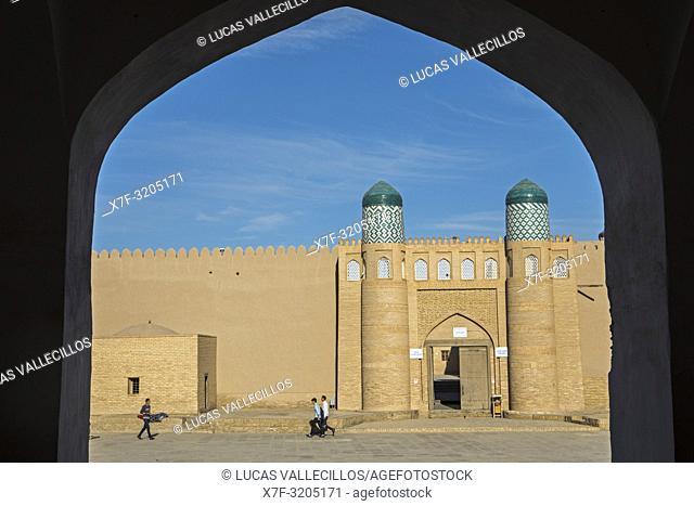 Main gate of Kuhna Ark, Execution Square, Khiva, Uzbekistan