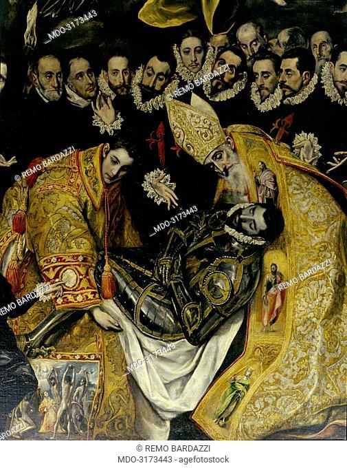 The Burial of the Count of Orgaz (El Entierro del Conde de Orgaz), by El Greco, 1586, 16th Century, oil on canvas, 480 x 360 cm
