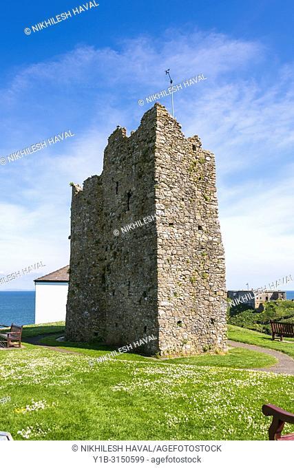 Tenby Castle, Wales, UK