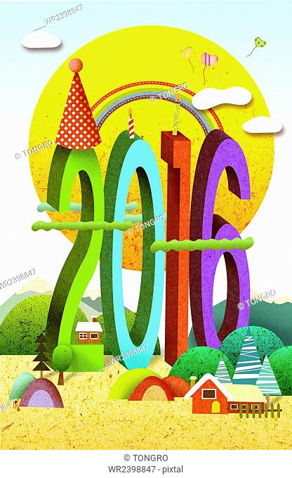 Background of new year 2016