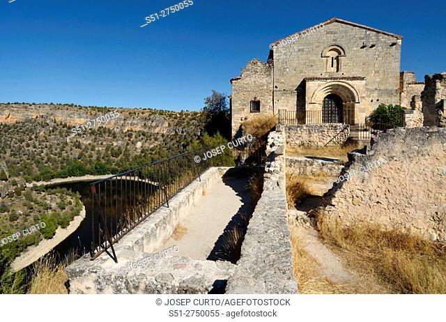 Ermitage of San Frutos, Hoces del Duraton, Segovia province, Spain