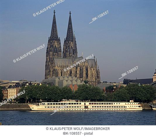 Cathedral with museum Ludwig - Cologne on the Rhine - Germany