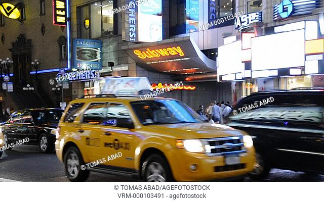 42nd Street, Times Square, New York City, USA