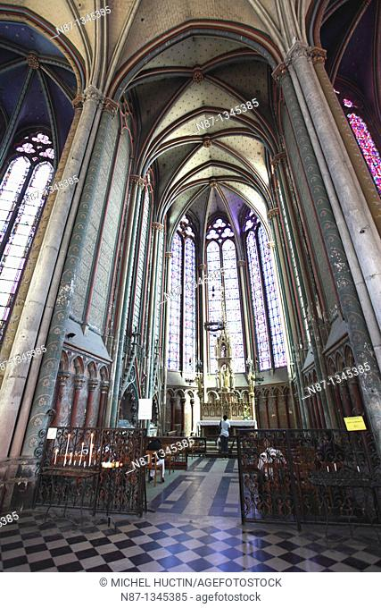 The chapel of the Virgin of Amiens Cathedral