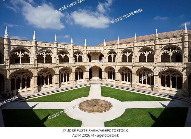Portugal summer 2010,Lisboa City,Jeronimos Monastery UNESCO,Cloister