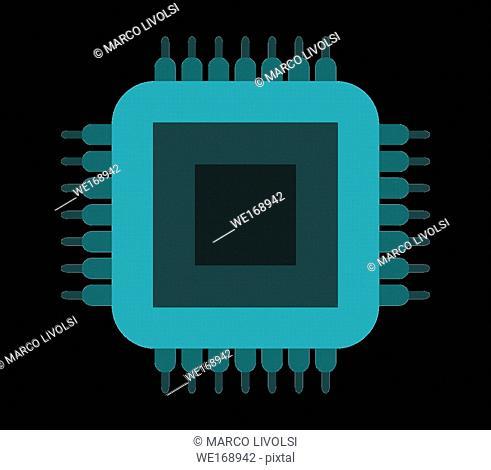 micro chip icon