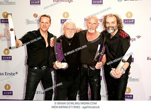 The 2016 ECHO Awards Press Room- German Music Awards(Deutscher Musikpreis) held at Messe Berlin in Charlottenburg. Featuring: Santiano Where: Berlin