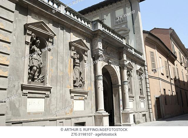 Architecture of Pavia. Pavia, Lombardy, Italy